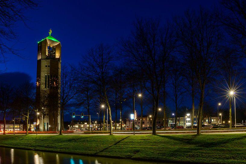 Emmeloord in de avond van Sjoerd van der Wal