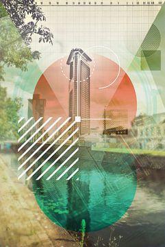 Den Haag geometric en architecture  collage van Ariadna de Raadt