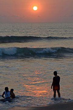 Zonsondergang Bali 2 van