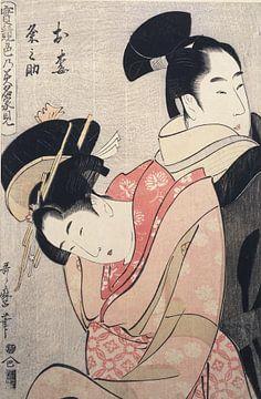 Oume und Kumenosuke, Kitagawa, Utamaro
