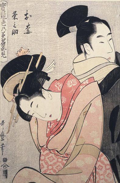 Kitagawa, Utamaro, Oume en Kumenosuke, Japanse prent