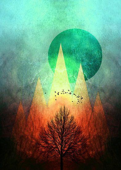 TREES under MAGIC MOUNTAINS II - Portrait van Pia Schneider