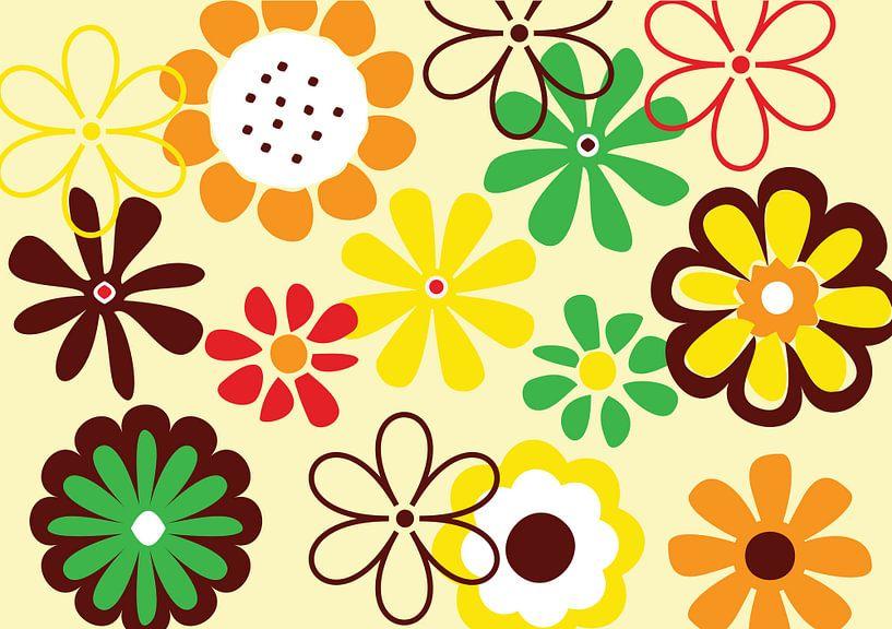 Bloemen (abstract) van Mark Rademaker