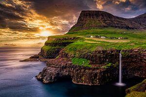 Wasserfall Múlafossur, Färöer Inseln