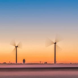 Windmolenpark in de polder van eric van der eijk