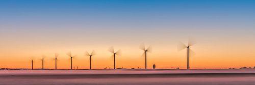 Windmolenpark in de polder