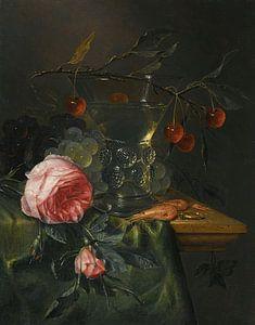 Stillleben mit einem Kirschzweig, Pieter de Ring
