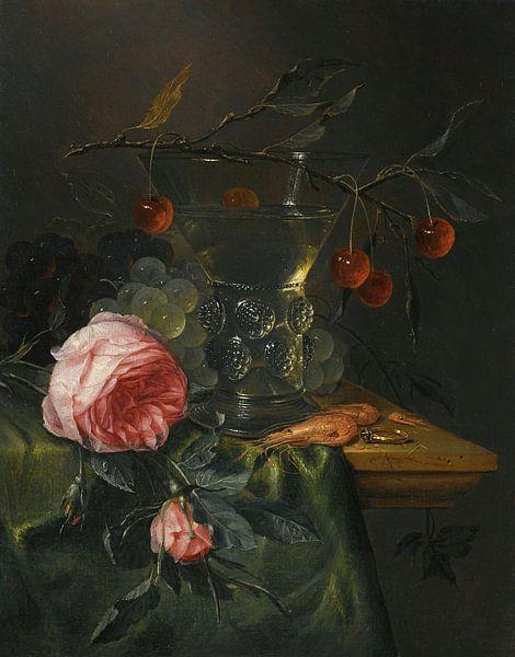 Stillleben mit einem Kirschzweig, Pieter de Ring von Meesterlijcke Meesters