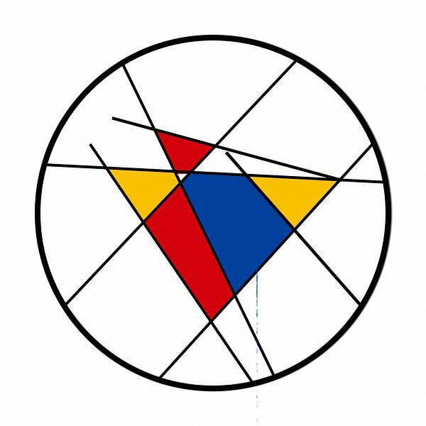 Piet Mondrian Art Round sur Marion Tenbergen