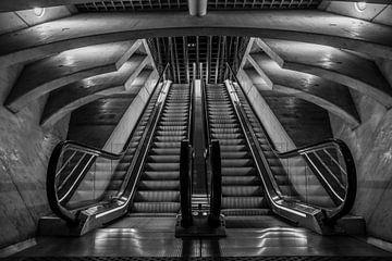 Symmetrie in schwarz und weiss von Kim Claessen