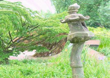Lanterne tordue japonaise sur Frank Heinz