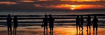 Zonsondergang in Bali van Brenda Reimers