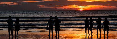 Zonsondergang in Bali van