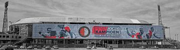 Feyenoordstadion, De Kuip in kampioenskleuren. van Hille Bouma