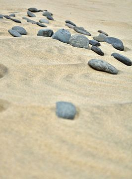 Stein im Sand I van Mathias Kuhn