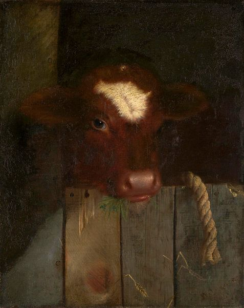 Die Familien-Kuh (Kalbskopf), William Merritt Chase von Meesterlijcke Meesters