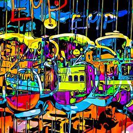 Graffiti aan de haven - motief 5 van zam art