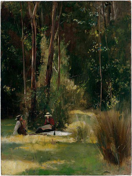 Tom Roberts, Een zondagmiddag - 1886 van Atelier Liesjes