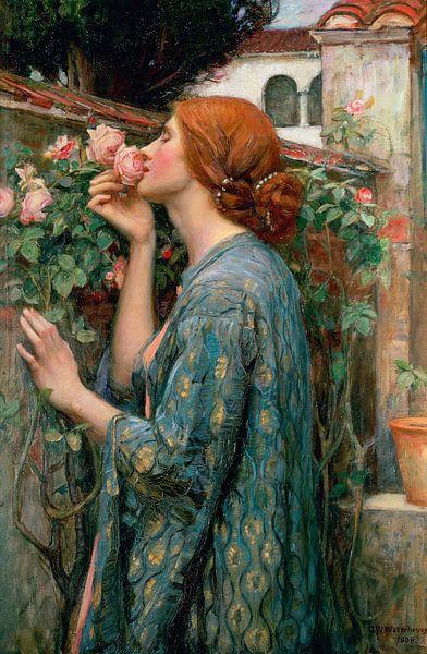 De ziel van de roos, John William Waterhouse van Meesterlijcke Meesters