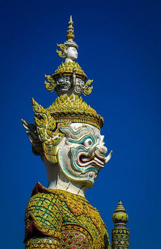 Bewaker bij het Koninklijk Paleis in Bangkok, Thailand