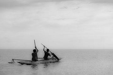 Op weg naar huis in Papua Nieuw Guinea. van Ron van der Stappen