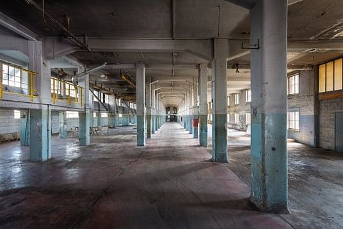 Verlassene Fabrikhalle.