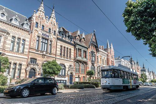 Karakteristieke tram in Antwerpen van