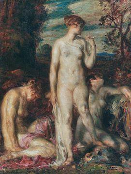 Die drei Grazien, CARL VON MARR, Ca. 1880-1890 von Atelier Liesjes