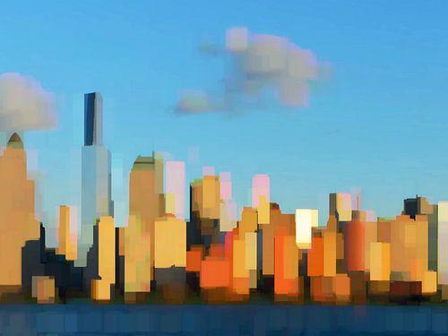 33. City-art, Abstract, stad N. van Alies werk