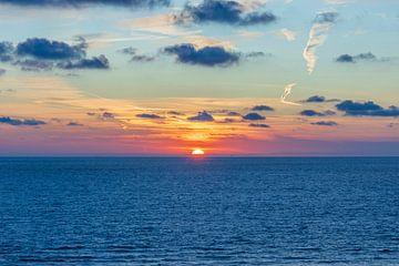 Sonnenuntergang Nordsee von Christiaan de Graaf
