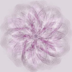 Mandala, spirograaf met roodtinten