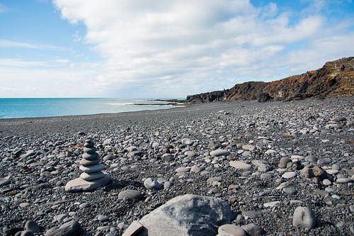 Vulkanisch strand in IJsland