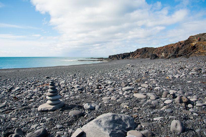 Vulkanisch strand in IJsland van Lifelicious