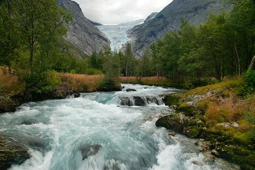 Briksdalbreen gletsjer