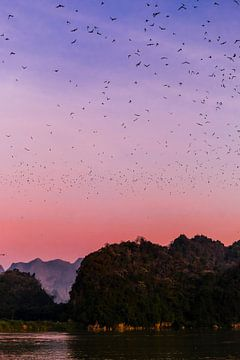 Zonsondergang in Hpa-An   Myanmar