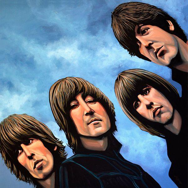 The Beatles Rubber Soul Schilderij van Paul Meijering