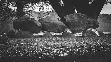Gruseliges uraltes Dolmen- oder Hunebed-Megalithgrab von Fotografiecor .nl