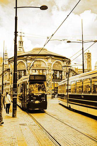 Binnenstad van Den Haag Nederland Goud