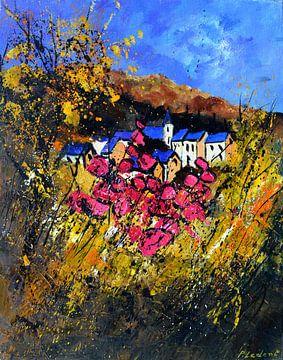 Blaues und rosa Dorf von pol ledent