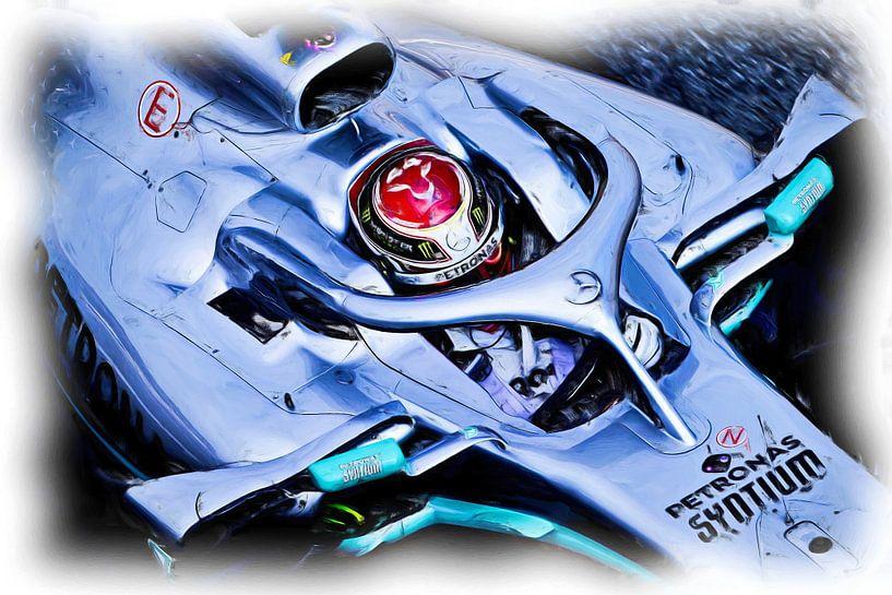 Lewis Hamilton #44 - 2019 von Jean-Louis Glineur alias DeVerviers