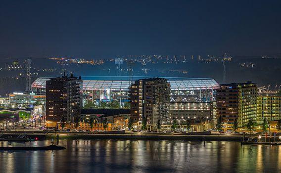 "Feyenoord Stadion ""De Kuip"" Luchtfoto in Rotterdam van MS Fotografie | Marc van der Stelt"