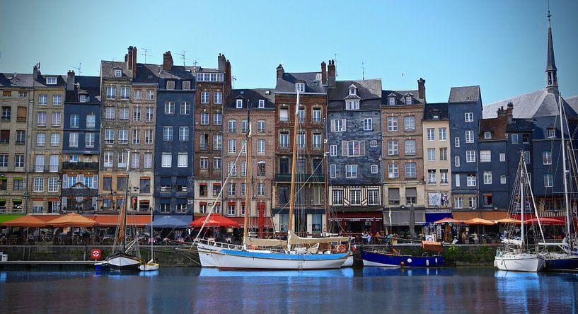 De haven van Honfleur, Normandië, La France van Jasper van de Gein Photography