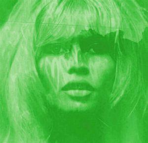 Brigitte Bardot Gift Green - Love Pop Art - 24 Colours - Game - IPAD