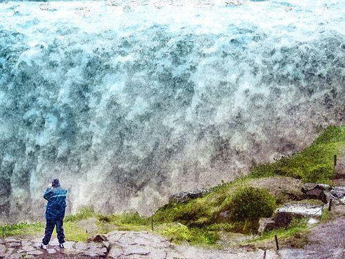 IJsland: Detifoss in de regen