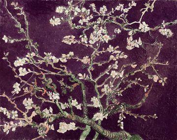 Mandelblüte von Vincent van Gogh (Aubergine)