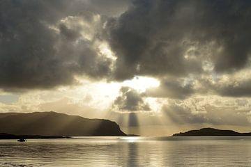 Zonsondergang aan Schotse Kust van Jens Droth