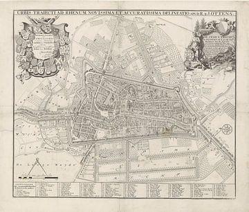 Plattegrond van Utrecht, Jan van Vianen, naar Caspar Specht, 1725 - 1751