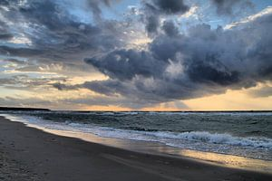 Abends an der Ostseeküste