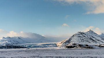 Fláajökull-Gletscher in der Wintersonne gebadet von Henry Oude Egberink