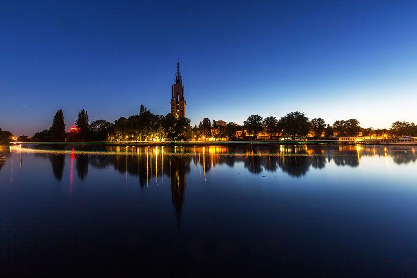 Potsdam Skyline an der Havel zur blauen Stunde von Frank Herrmann